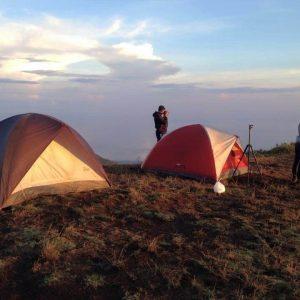 campeggio sul batur