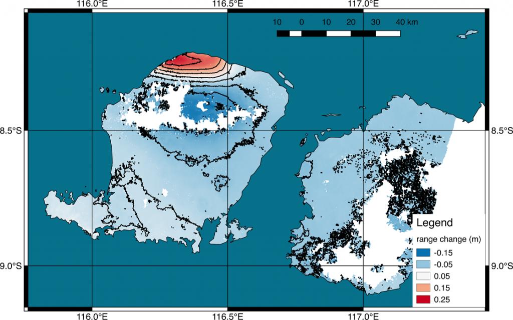 deformazione lombok terremoto