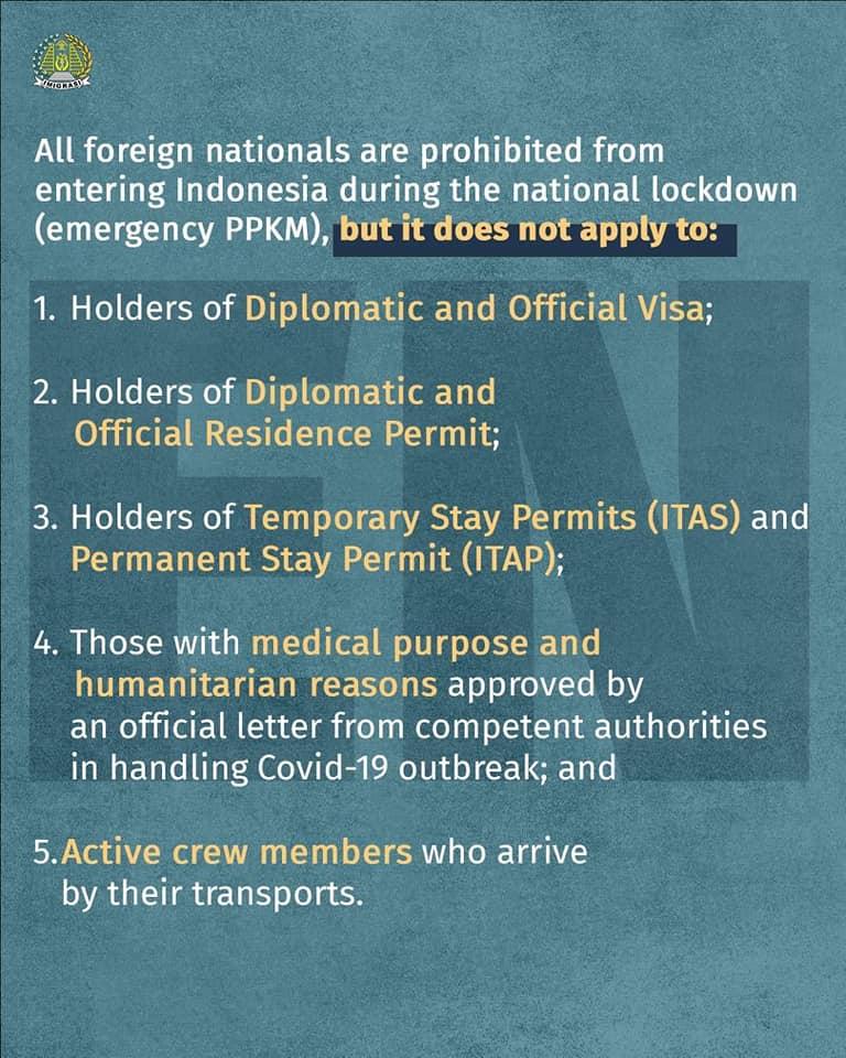 stranieri ingresso indonesia